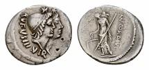 Ancient Coins - Mn. Cordius Rufus AR Denarius, 46 BC
