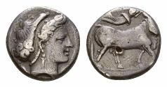 Ancient Coins - Neapolis AR Nomos, c. 300-275 BC