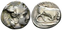 Ancient Coins - Lucania, Thourioi AR Didrachm, c. 400-350 BC