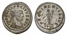 Ancient Coins - Tacitus AE silvered antoninianus, Providentia reverse