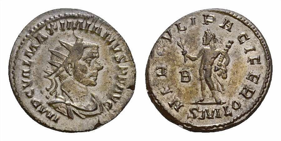 Ancient Coins - Maximianus Herculius AE silvered antoninianus, Hercules reverse, scarce