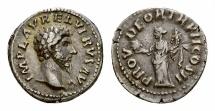 Ancient Coins - Lucius Verus AR Denarius, Providentia reverse