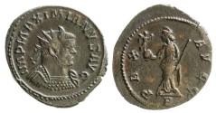 Ancient Coins - Maximianus Herculius Antoninianus, Lugdunum, Pax reverse, RIC V 399