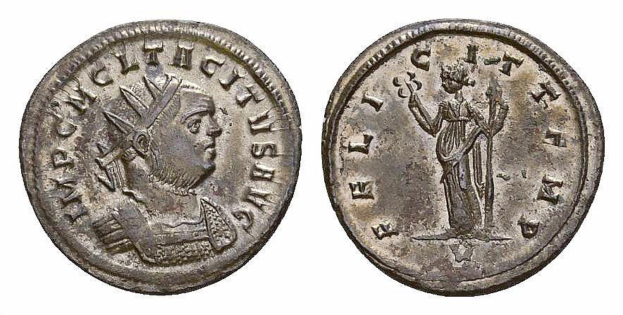 Ancient Coins - Tacitus AE silvered antoninianus, Felicitas reverse