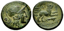 Ancient Coins - Lysimachos AE 18, 323-281 BC