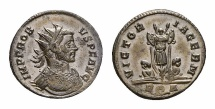 Ancient Coins - Probus AE silvered antoninianus, German victory reverse