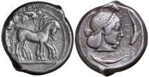 Ancient Coins - Syracuse, Hieron I c.478-466 BC, Silver Tetradrachm