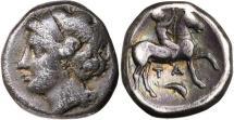 Ancient Coins - Calabria, Tarentum (Taras), c.275-250 BC, Silver Stater