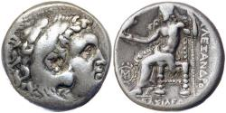 Ancient Coins - Kings of Macedon, Alexander III 'the Great' 336-323 BC Silver Tetradrachm