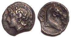 Ancient Coins - Thessaly, Pharsalos 3rd quarter of the 4th century BC Silver Obol