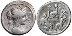 Ancient Coins - Faustus Cornelius Sulla, 56 BC, Silver Denarius