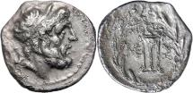 Ancient Coins - Messenia, Messene, late-2nd Century BC, Silver Hemidrachm
