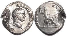 Ancient Coins - Vespasian 69-79 Silver Denarius