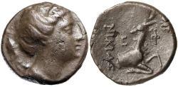 Ancient Coins - Ionia, Ephesos c.245-202 BC Silver Didrachm