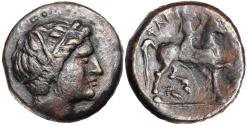 Ancient Coins - Thessaly, Phakion 3rd century BC AE Trichalkon