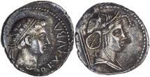 Ancient Coins - Mauretanian Kingdom, Juba II, 25 BC - AD 24, Silver Denarius - Africa