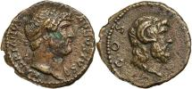 Ancient Coins - Hadrian, 117-138, AE Semis
