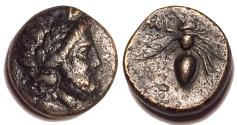 Ancient Coins - Thessaly, Melitaia Late 4th century BC AE Chalkous