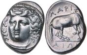 Ancient Coins - Thessaly, Larissa 356-342 BC, Silver Drachm