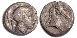 Ancient Coins - Thessaly, Pharsalos Late 5th-mid 4th century BC Silver Obol