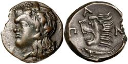 Ancient Coins - Tauric Chersonesos, Pantikapaion c.4th-3rd Century BC AE19