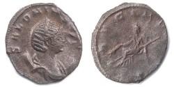 Ancient Coins - Salonina, wife of Gallienus 253-268, Base Silver Antoninianus