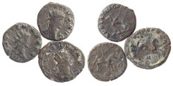 Ancient Coins - Gallienus 253-268 Lot of Three (3) 'Zoo' Antoniniani