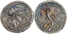 Ancient Coins - Mauretanian Kingdom, Juba II, 25 BC - AD 24, Silver Denarius