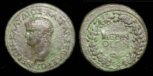 Ancient Coins - **RARE PROVINCIAL SESTERTIUS OF NERO WITH CHOICE PATINA...