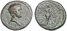 Ancient Coins - **FINE STYLE BRITANNICUS PORTRAIT. BRITANNICUS, AD 41-55, Smyrna, Ionia, son of Claudius and Messalina, 41-54 AD, 3.96 g, struck under Claudius 50-54 AD, 17.0mm. Obv: ZYM; draped b