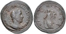 Ancient Coins - MEDALLION ONE OF ONLY THREE KNOWN! ONE OF ONLY THREE KNOWN. GALLIENUS. AE Medallion (25mm, 4.94 g, 6h). Rome mint. 2nd emission, AD 254-256. Laureate and cuirassed bust right, slig