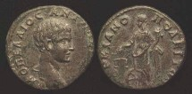 Ancient Coins - VERY RARE THIS NICE DIDUMENIAN, mid May - 8 June 218 A.D., Marcianopolis, Moesia Inferior. AE 21, Varbanov 1332, as Caesar, 217 - 218 A.D.; obverse MOΠEΛΛIOC ANT&#93