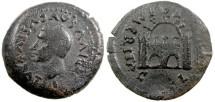 Ancient Coins - AUGUSTUS, SPAIN, EMERITA. Divvus Augustus, AE30 (by Tiberius after 14 AD). Rare. Weight: 11.95 g; Size 30 mm. Obverse: DIVVS AVGVSTVS PATER; bare head of Augustus left. Reverse: CO