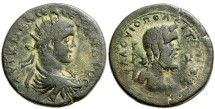 Ancient Coins - **EXCELLENT LINDGREN MABBOTT PEDIGREE TO 1969. SEVERUS ALEXANDER WITH RARE DEPICTION OF KRONOS