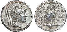 Ancient Coins - Attica. Athens: AR (New Style) tetradrachm – Athena/Owl