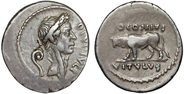 Julius caesar ar denarius posthumous issue by q voconius vitulus julius caesar ar denarius posthumous issue by q voconius vitulus bull calf good metal freerunsca Images