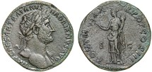 Ancient Coins - Hadran AE sestertius – Felicitas