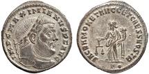 Ancient Coins - Maximianus AE follis – Moneta – EF; pleasantly silvered