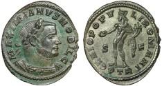 Ancient Coins - Galerius as Caesar billon follis – Genius –EF