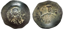 Ancient Coins - Manuel I Comnenus billon trachy – Christ/Emperor