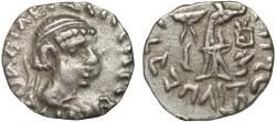 Ancient Coins - Baktria. Indo-Greek Kingdom: Bhadryasa AR drachm – Athena – Rare