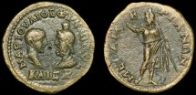 Ancient Coins - Philip II AE27, Mesembria, Thrace - Philip II and Serapis/Serapis