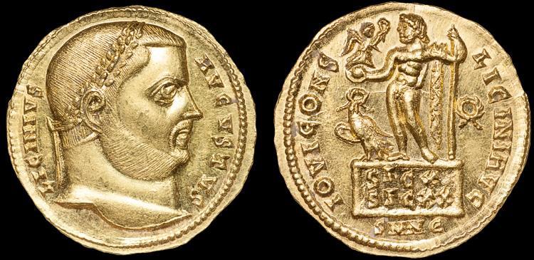 Ancient Coins - Licinius I AV aureus – Jupiter – gEF