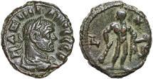 Ancient Coins - Maximianus Herculius billon tetradrachm, Alexandria, Egypt – Herakles holding apple, club, and lionskin