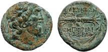 Ancient Coins - Syria. Seleucia Pieria AE18 – Zeus/Winged thunderbolt