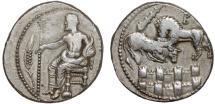 Ancient Coins - Cilicia. Tarsus: Balacrus AR stater – Baaltars/Lion over city walls – Rare
