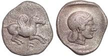 Ancient Coins - Akarnania.  Anaktorion AR drachm – Pegasos/Aphrodite – Very rare