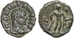 Ancient Coins - Maximianus Herculius billon tetradrachm, Alexandria, Egypt – Herakles holding Apple of the Hesperides