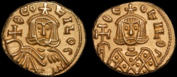 Ancient Coins - Theophilus AV solidus – Theophilus in chlamys/Theophilus in loros – EF