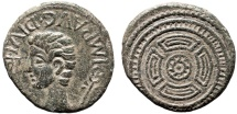 Ancient Coins - Augustus AE As – Celt-Iberian shield